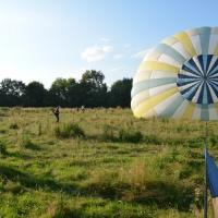 vue du sommet de la montgolfière