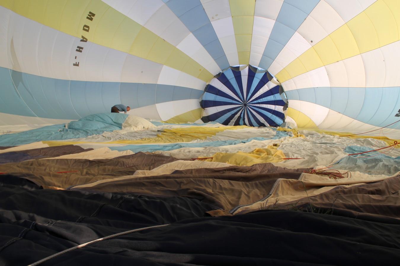 intérieur de la montgolfière