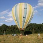 vue d'ensemble de la montgolfière