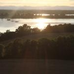 Coucher du soleil sur les étangs de la Dombes