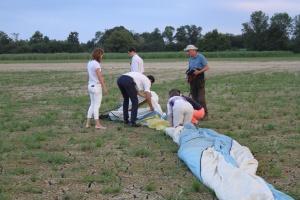 pliage montgolfière en groupe