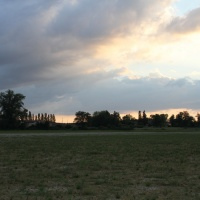 Coucher de soleil dans la Dombes
