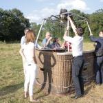 preparation de la montgolfiere dans la Dombes