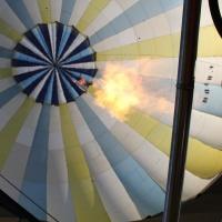 Feu du brûleur de la montgolfière