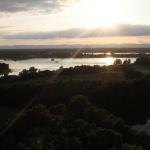 Paysage de la Dombes vu depuis la montgolfière