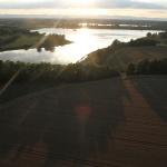 Coucher du soleil dans la Dombes
